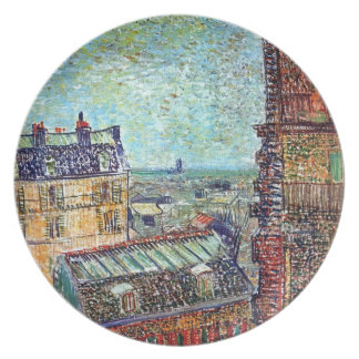 Van Gogh - View Of Paris From Vincents Room Party Plates