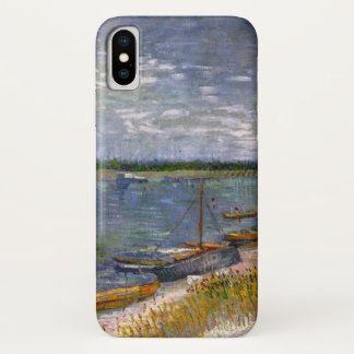 Van Gogh View of River with Rowing Boats, Fine Art iPhone X Case