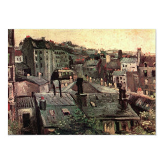 Van Gogh View of Roofs and Backs of Houses Card