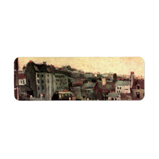 Van Gogh View of Roofs and Backs of Houses Label
