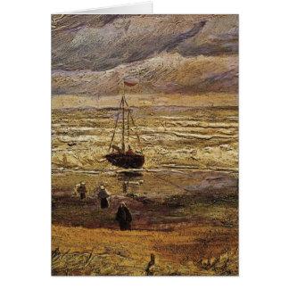 Van Gogh View of Sea at Scheveningen, Fine Art Card