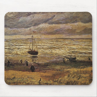 Van Gogh View of Sea at Scheveningen, Fine Art Mouse Pad