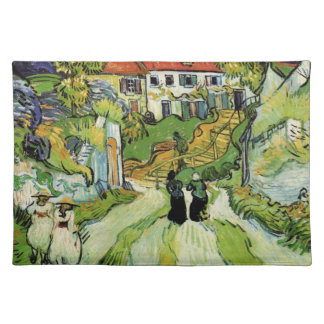 Van Gogh - Village Street and Steps in Auvers Cloth Placemat