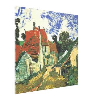 Van Gogh Village Street in Auvers Vintage Fine Art Canvas Print
