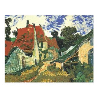 Van Gogh Village Street in Auvers Vintage Fine Art Postcard