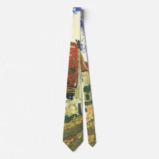Van Gogh Village Street in Auvers Vintage Fine Art Tie