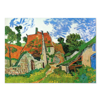 Van Gogh Village Street, Vintage Fine Art Card