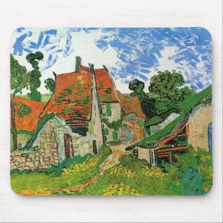 Van Gogh Village Street, Vintage Fine Art Mouse Pad