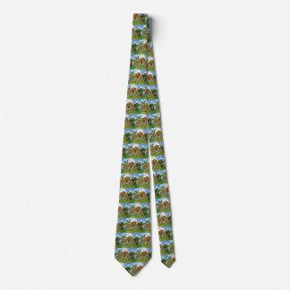 Van Gogh Village Street, Vintage Fine Art Neck Tie
