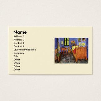 Van Gogh Vincent's Bedroom in Arles, Fine Art Business Card