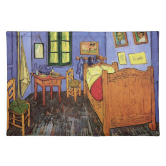 Van Gogh Vincent's Bedroom in Arles, Fine Art Cloth Placemat