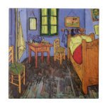 """Van Gogh Vincent&#39;s Bedroom in Arles, Fine Art Tile<br><div class=""""desc"""">Vincent&#39;s Bedroom in Arles by Vincent van Gogh is a vintage fine art post impressionism architectural painting featuring van Gogh&#39;s bedroom in the Yellow House in Arles. A typical bedroom scene with clothes hanging by the door, a bed, table, nightstand, chairs, a window and hardwood floors. About the artist: Vincent...</div>"""