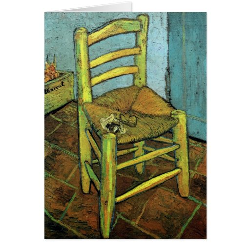 Van Gogh Vincent's Chair with His Pipe Cards
