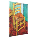 Van Gogh - Vincent's Chair With Pipe Gallery Wrapped Canvas