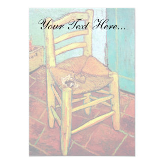 Van Gogh - Vincent's Chair With Pipe Card