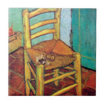 Van Gogh - Vincent's Chair With Pipe Ceramic Tile