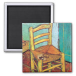 Van Gogh - Vincent's Chair With Pipe Fridge Magnet