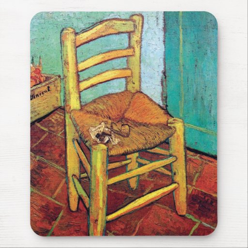 Van Gogh - Vincent's Chair With Pipe Mouse Pad