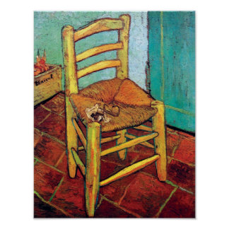 Van Gogh - Vincent's Chair With Pipe Poster