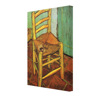 Van Gogh; Vincent's Chair with Pipe, Vintage Art Canvas Print