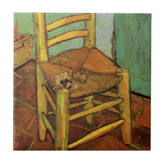 Van Gogh; Vincent's Chair with Pipe, Vintage Art Ceramic Tile