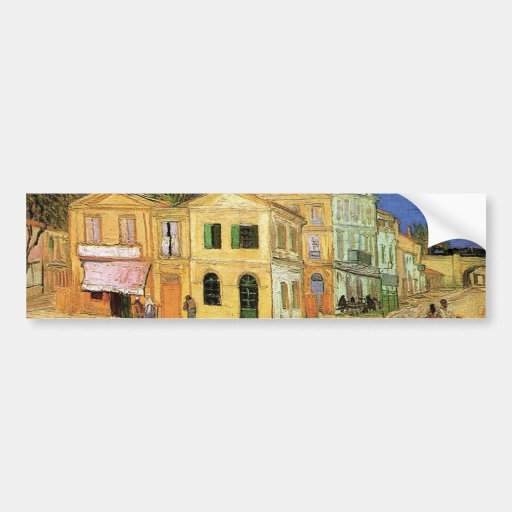 Van Gogh; Vincent's House in Arles (Yellow House) Bumper Stickers