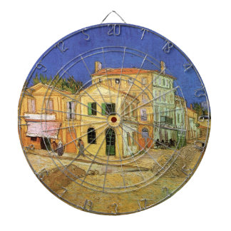 Van Gogh, Vincent's House in Arles (Yellow House) Dartboard With Darts