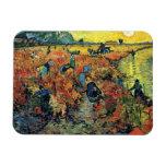 Van Gogh - viñedos rojos en Arles Imán