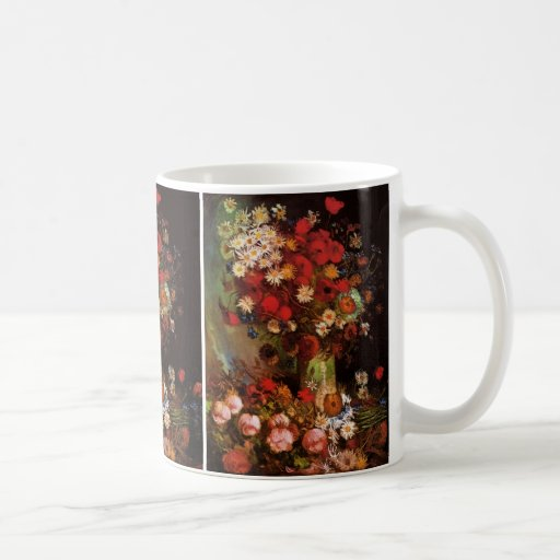 Van Gogh Vintage Flowers in Vase Floral Still Life Classic White Coffee Mug
