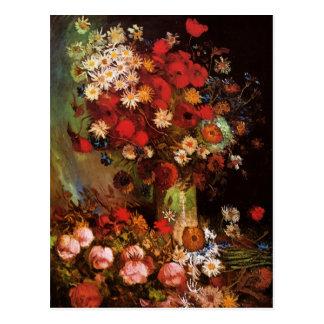 Van Gogh Vintage Flowers in Vase Floral Still Life Postcard