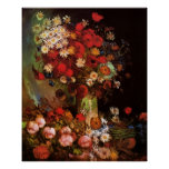 Van Gogh Vintage Flowers in Vase Floral Still Life Poster