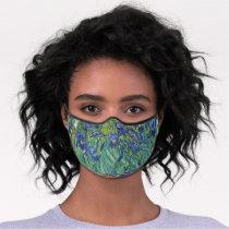 Van Gogh Vintage Irises Premium Face Mask