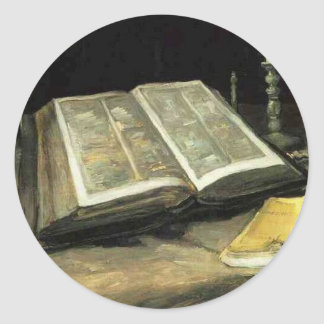 Van Gogh Vintage Old Painting Art Artist Classic Round Sticker
