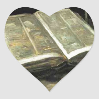 Van Gogh Vintage Old Painting Art Artist Heart Sticker