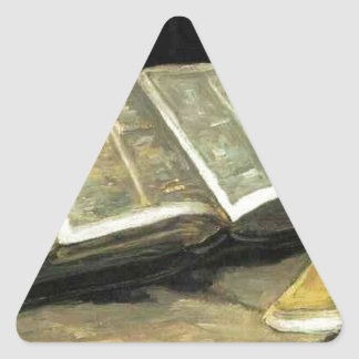 Van Gogh Vintage Old Painting Art Artist Triangle Sticker