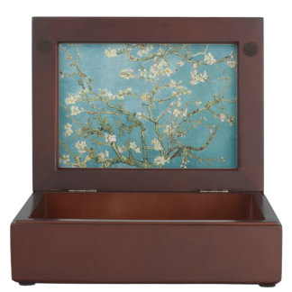 Van Gogh Vintage Old Painting Blossoms Flowers Memory Box