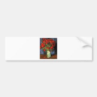 Van Gogh Vintage Painting Blossoms Vase Flowers Bumper Sticker
