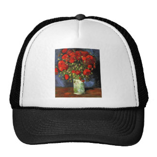 Van Gogh Vintage Painting Blossoms Vase Flowers Trucker Hat