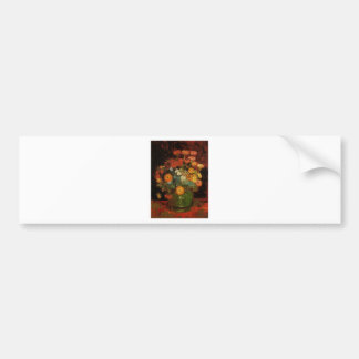 Van Gogh Vintage Painting Vase Flowers Blossoms Bumper Sticker