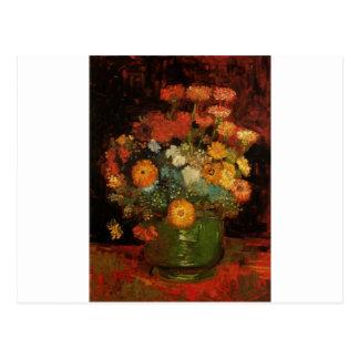 Van Gogh Vintage Painting Vase Flowers Blossoms Postcard