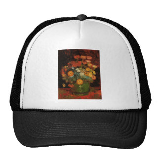 Van Gogh Vintage Painting Vase Flowers Blossoms Trucker Hat