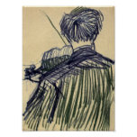 Van Gogh - Violinist Seen from the Back Print