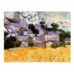 Van Gogh; Vista de Auvers con la iglesia Postal