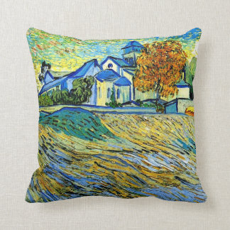 Van Gogh - vista de la iglesia de Saint Paul Cojin