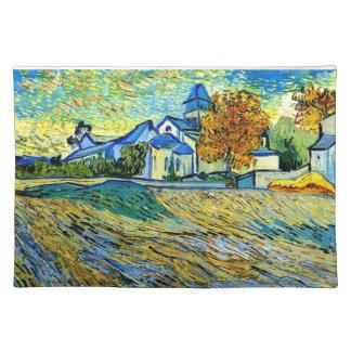 Van Gogh - vista de la iglesia de Saint Paul Mantel