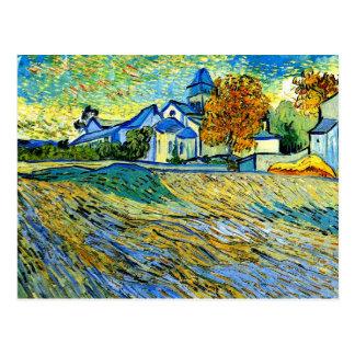 Van Gogh - vista de la iglesia de Saint Paul Postales