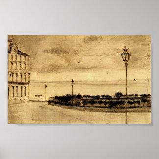 Van Gogh - vista del camino real Ramsgate Impresiones