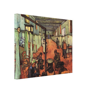 Van Gogh; Ward in the Hospital in Arles Stretched Canvas Print