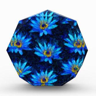 van gogh water lily blue acrylic award