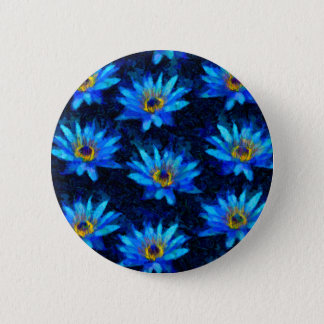 van gogh water lily blue button